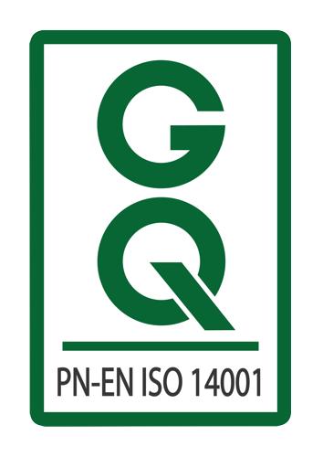 Certyfikat jakości PN-EN ISO 14001 logo